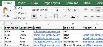 How To Build Org Charts In Excel Templates Pingboard