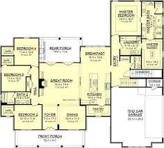 Farmhouse Style House Plan  4 Beds 250 Baths 2686 SqFt Plan House Palns