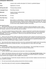 Sample Of A Character Letter Character Reference Letter Examples Sample For Child Custody Example