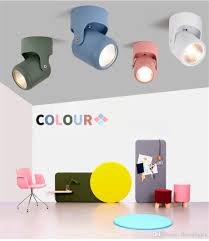 Multi Color Wall Light 2019 Macaron Adjustable Led Wall Light Creative Multi Color Wall Lamp For Restaurant Clothing Store Background Ktv Bar From Threedlights 28 85