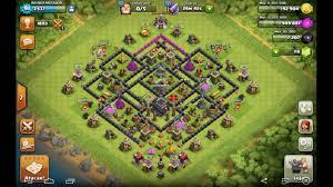 Clash Of Clans Cv 9 Layout Anti Pt Na Vila E Na War Ap 12 Youtube