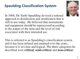 Spaulding Classification Chart High Level Disinfection Record Keeping Ppt Video Online