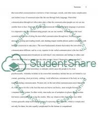 nonverbal communication essay example topics and well written nonverbal communication essay example