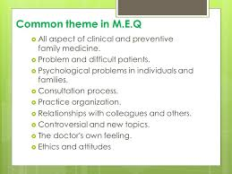 modified essay question ppt video online  common theme in m e q all aspect of clinical and preventive family medicine problem and difficult