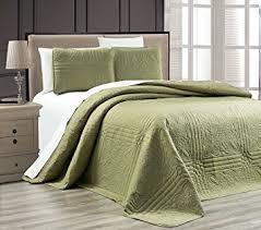 sage green quilt. Exellent Sage Amazoncom 3Piece SAGE GREEN Oversize  To Sage Green Quilt A