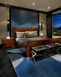 Mens Bedroom Architecture Vinyl Bench Cushions Accented By Mens Bedroom Ideas