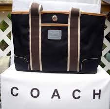 Coach Hampton Black Weekend Tote Bag