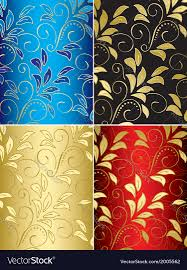 Free Floral Backgrounds Set Of Floral Backgrounds With Gradient Royalty Free Vector