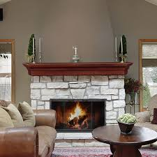 Keystone - Wood Mantel Shelves - Fireplace Mantel Shelf - Floating ...