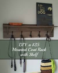 Hang Coat Rack Shelf Wall Mounted Coat Rack With Shelves Shelf How To Hang 98