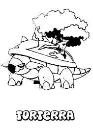 Torterra Pokemon Coloring Page More Grass