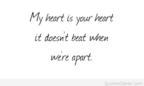 my heart is your heart saying