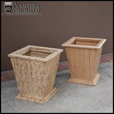 wood planters to enlarge
