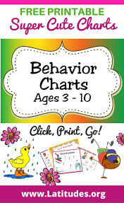 printable behavior charts ages acn latitudes behavior charts ages 3 10