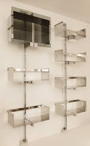 library unit furniture. A Chromed Steel Library Unit Designed By Vittorio Introini - Other Furniture Via Antica. \u2039