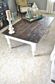 Refurbished Coffee tables and end tables. Me favorite scheme - dark wood  and while