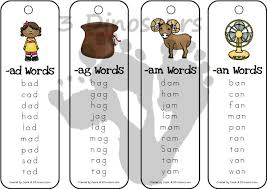 Word With Ad Free Cvc Word Family Bookmarks 3 Dinosaurs