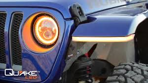 Jeep Jl Led Fender Lights Check Out Quake Leds Jeep Wrangler Jl Jt Gladiator Drl