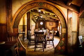 Fairytale hobbit cottage - Tree logs & waterfall garden - Magic Mountain  Hotel in Chile - Interior Design & Decor - Magical Places & Spaces