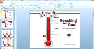 Thermometer Template Inspiration Thermometer Template Regular Free Goal Excel Thermo Supergraficaco