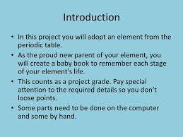 Element Baby Book Project - ppt video online download