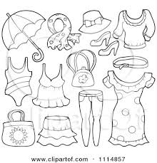 What are the hats and types of shoes. Preview Clipart Desenler Yaz Kiyafetleri Anaokulu