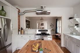 kitchen exhaust fan design. inspiration for a modern kitchen remodel in dallas with subway tile backsplash and wood countertops exhaust fan design g