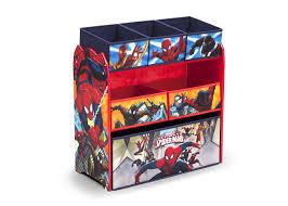 delta children multi bin toy organizer marvel spider man