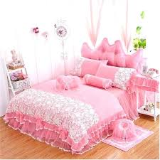 king ruffle bedding pink ruffle bedding set princess lace bedspread bedding set twin full queen king regarding pink ruffle king size ruffle bedding