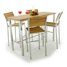 teak bistro table and chairs. The Vogue 5 Pc Bar Set Unites Stainless Steel And Warmth Of Teak Into A Bistro Table Chairs