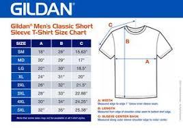 Gildan Tee Shirt Size Chart Gildan Mens Classic Short Sleeve T Shirt Size Chart 8 5x6 By