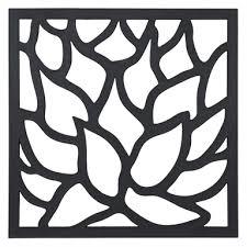 matrix 575 x 575mm charcoal lotus wall