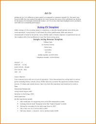 Acting Resumes Acting Resumes Templates 10 Acting Resume