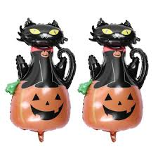 cute halloween black cat. Brilliant Cat Cute Halloween Black Cat Pumpkin Foil Balloons Kids Party Decoration 2pcs To S