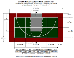 pickleball court size court layouts flex court athletics