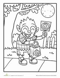 Color this scary chucky coloring page for halloween. Cute Halloween Coloring Pages Education Com