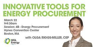 """WGL Energy on Twitter: """"Join Olga Riggs-Miller, C.E.P., on Thursday for an  in-depth panel discussion of #EnergyProcurement tools for the modern world  at #globalcon.… https://t.co/J0CiasAiSk"""""""