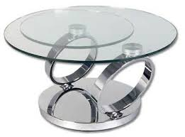 dakota glass rings round extending coffee table with stainless steel base cfs uk