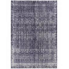 gandia blasco modern indigo rug geometric pattern rectangular dark navy blue