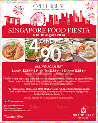 Open House Singapore National Day Buffet Promotion