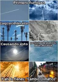 Resultado de imagen de chemtrails cambio climatico