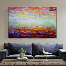 canvas painting living room wall art abstract landscape large paintings for huge