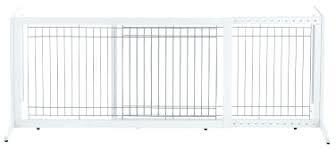 folding dog gate white large freestanding pet indoor fence adjule safe door wood folding dog gate