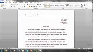 tips for writing an essay in german