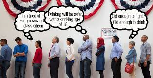 Lower drinking age linked to higher dropout rate     Voxitatis Blog Rebecca Clark The      National Minimum Drinking Age Act     U S C      which required  that States prohibit persons under    years of age from purchasing alcohol
