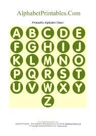 Circle Shaped A Z Letter Chart Templates Alphabet