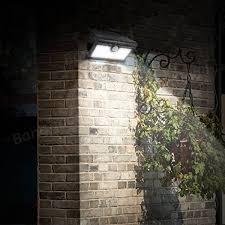 solar pir motion sensor wall light outdoor waterproof portable lamp 9 led