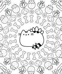 Pusheen coloring pages are not only for the adults, but also for kids and almost fans of this beloved chubby gray cat. Pusheen Coloring Pages Print Them Online For Free