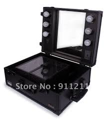 makeup case professional aluminum cosmetic case with trolly light and legs 495 makeup box with lights in makeup tool kits from beauty health on