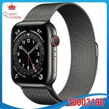 Đồng hồ thông minh Apple Watch Series 6 GPS + Cellular 44mm M09J3 Graphite  Stainless Steel Case with Graphite Milanese Loop - QUEEN MOBILE